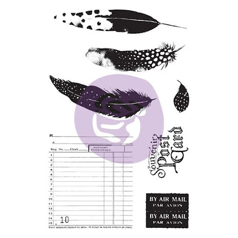 Prima Cling Rubber Stamps & Stencil - Midnight Garden UTGÅENDE