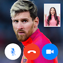 Video call with Lionel Messi - fake chat icon