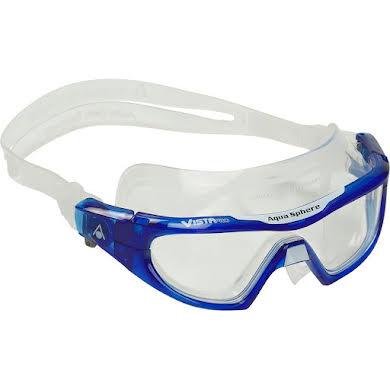 Aqua Sphere Vista Pro Goggles - Transparent Blue/White with Clear Lens