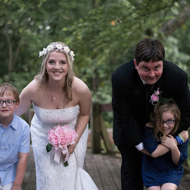 Ledbetter + kiddos by Angela Hollowell - Wedding Groups ( nephew, wedding, daughter, couple, arboretum )