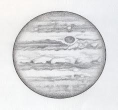 Photo: Jupiter le 9 avril 2016, à 20h22 TU pour l'hémisphère du haut, et 20h47 TU pour celle du bas. T406 à 350X en bino. Seeing correct, avec des instants de calme.