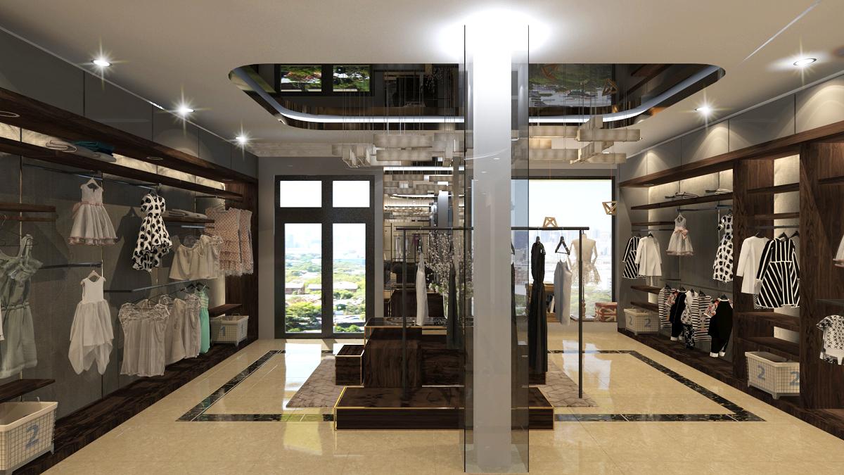 thiết kế shop thời trang sang trọng 16