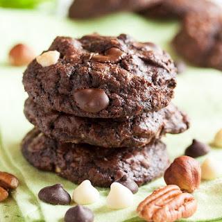 Nutty Triple Chocolate Brownie Cookies