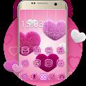 Fluffy diamond Hearts Theme: Pink Comics Launcher icon
