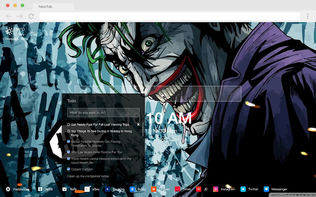 Clown Pop DC HD Wallpapers New Tabs Theme