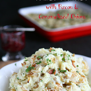Mashed Potatoes Recipe with Bacon & Caramelized Onions (Low-Fat).