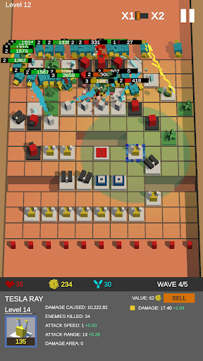 Cube TD: Turret Defense Free Maze Builder  captures d'écran 1