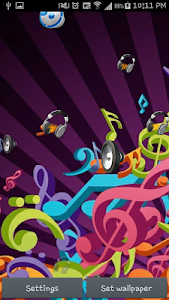 Music Live wallpaper screenshot 3