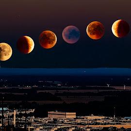 bloodmoon sequence by Peter Ljungberg - Digital Art Things ( sky, moon, city, dark, black,  )