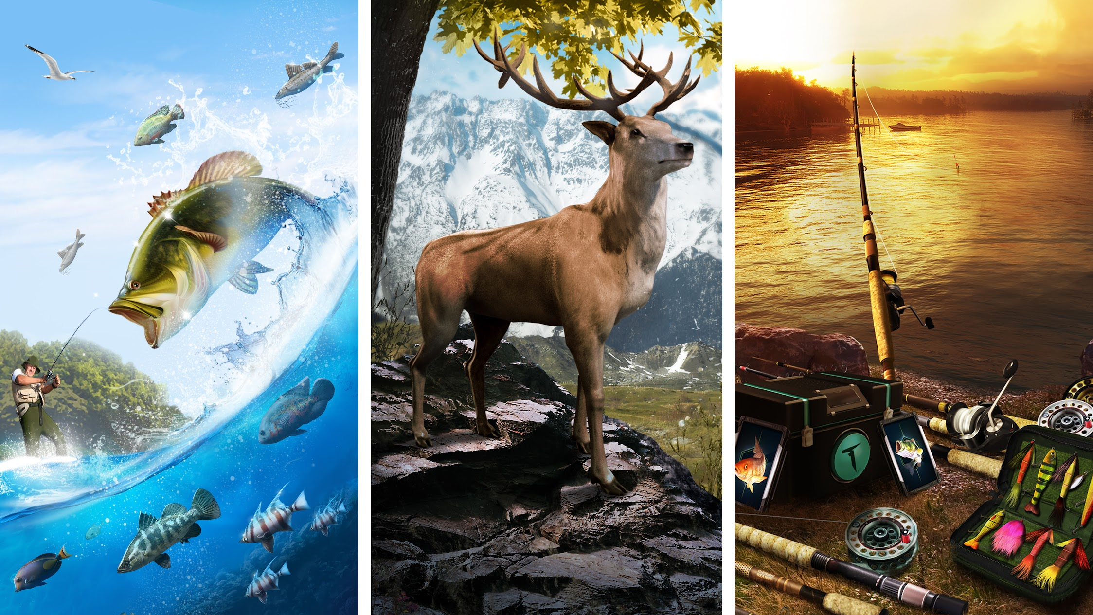 Ten Square Games: Sport Hunting and Fishing Games