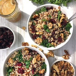 Cranberry Quinoa Salad with Kale & Walnuts