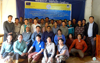 Photo: CFPAR Training first session participants, group photo , Fouang district, Vientiane province