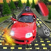 Crazy Speed Bumps Car Crashing Simulator - Beam NG