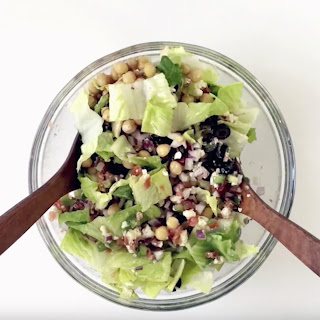 Italian Chopped Salad with Red Wine Vinaigrette.
