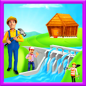 Village Farm Dam Repair: Fix It Construction Game