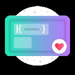 Fuchsia KWGT - Gradient Based Widgets 3.4 (Paid)