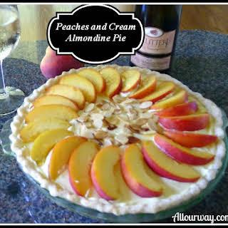 Peaches and Cream Almondine Pie.
