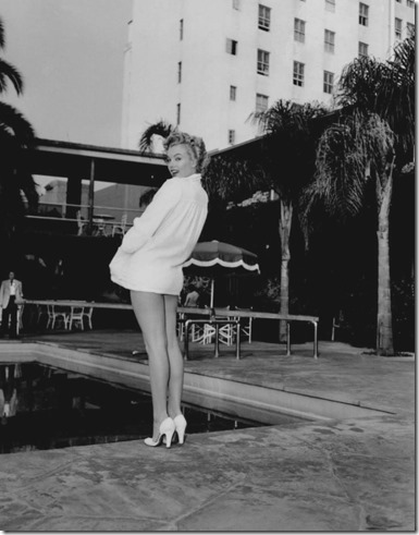 Marilyn at the Tropicana Pool.