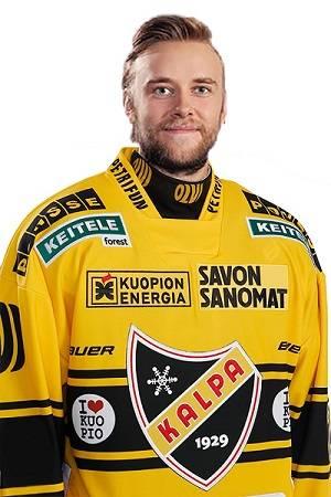Konsta Mäkinen pelaa tulevalla kaudella KalPa-logo rinnassaan.