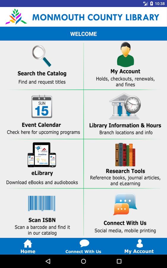 Monmouth County Library Mobile- screenshot