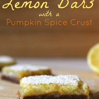 Pumpkin Spice Crust Lemon Bars