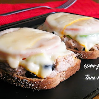Open-Faced Tuna Melt with Avocado and Tomato