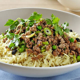 Rice Pilaf with Spiced Beef.