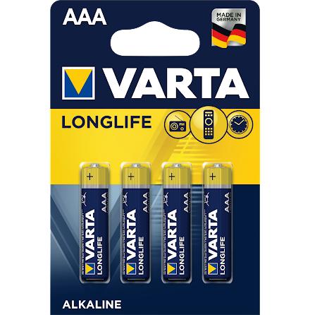 VARTA LONGLIFE AAA/LR03 4-PACK