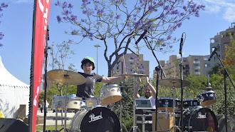 Aldo Cruz fue uno de los protagonistas del show de batería.