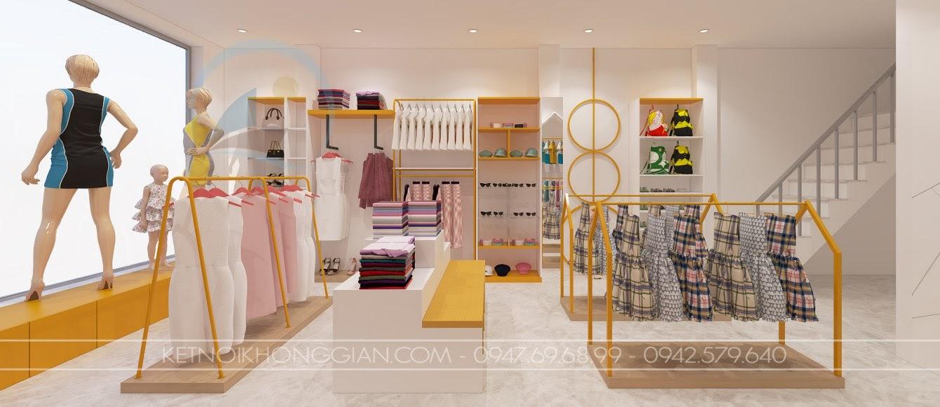 thiết kế shop mẹ và bé nhím store 12