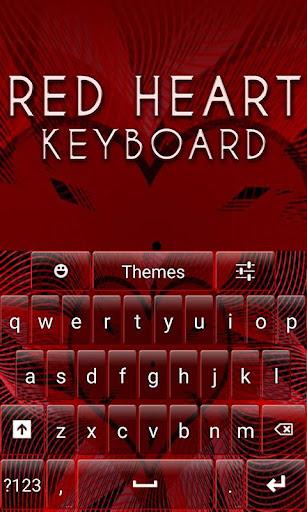 Red Heart Keyboard