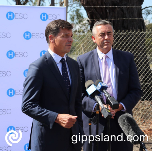 Federal Member for Gippsland Darren Chester, pictured with Minister for Energy and Emissions Reduction Angus Taylor, said the Latrobe Valley's role as a critical energy generator will be boosted by the decision to include the region as one of seven hydrogen hubs in Australia