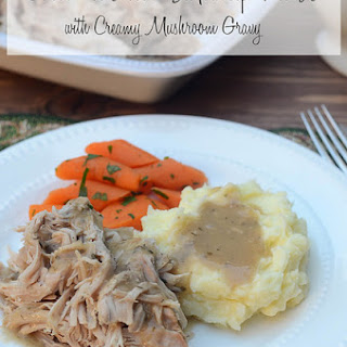 Crock-Pot Pork Sirloin Tip Roast with Creamy Mushroom Gravy