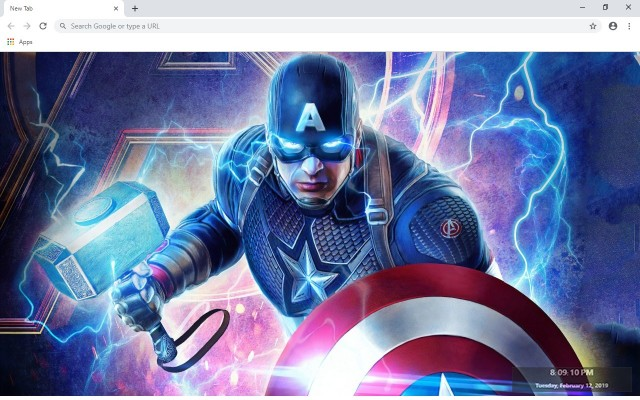 Captain America New Tab Theme