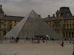 Photo: Our last full day begins at the Louvre.