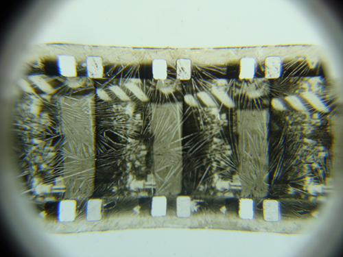 Film suffering from vinegar syndrome