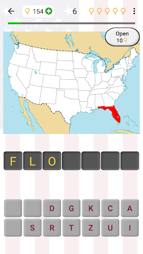 50 US States Map, Capitals & Flags - American Quiz filehippodl screenshot 1
