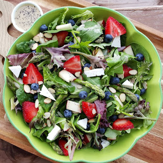 Spring Spinach Salad with Lemony Poppyseed Dressing.