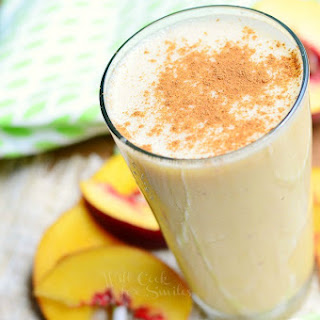 Peaches and Cream Breakfast Smoothie.