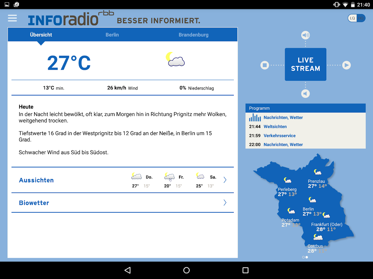 Inforadio- screenshot