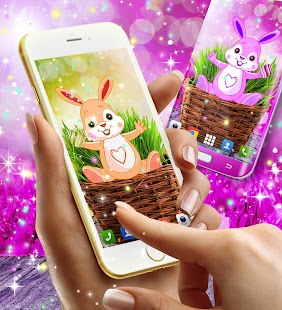 Cute bunny live wallpaper - náhled