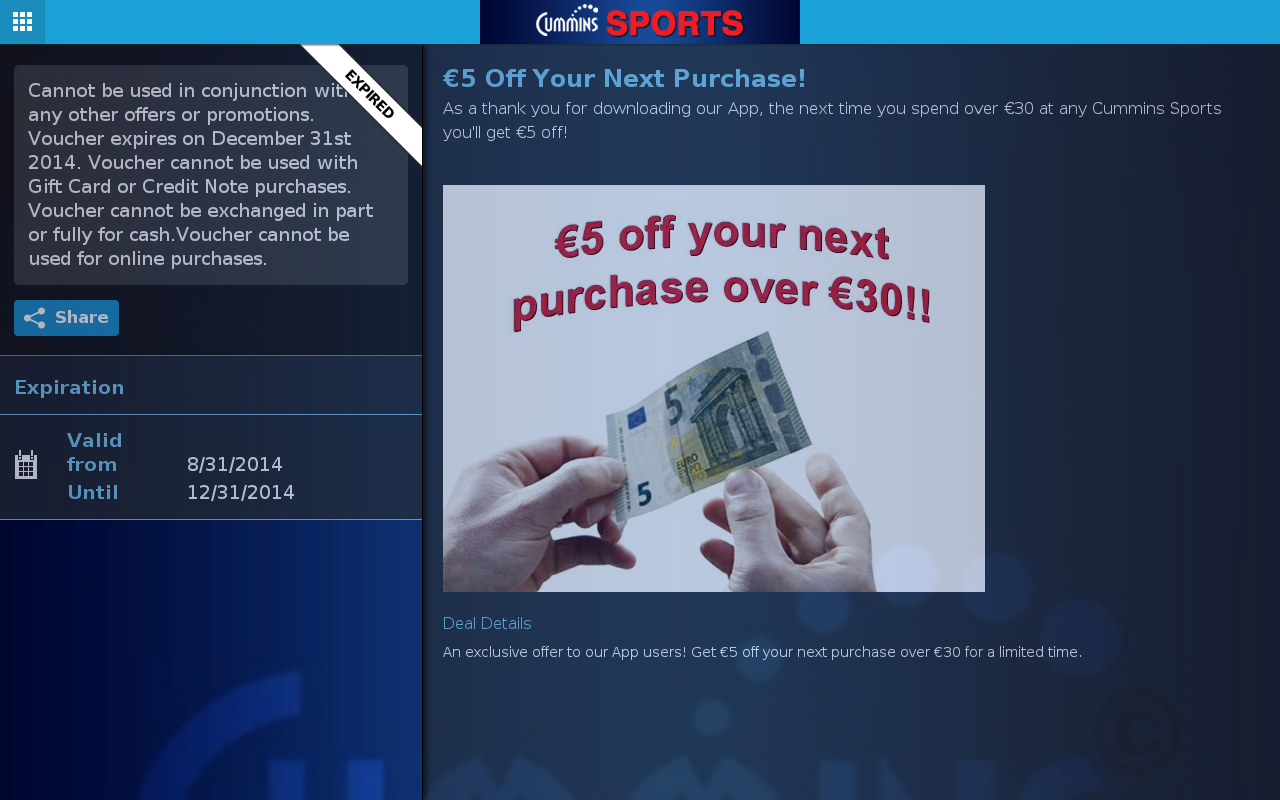 Cummins Sports- screenshot