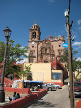 Photo: Templo de la Valenciana at the edge of GTO was build with silver wealth and retains its 18th century decorations.