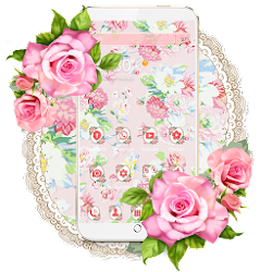 Pink Rose Blossom Theme Wallpaper