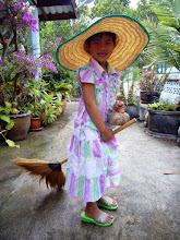 Photo: Little Thai Witch #Halloween :- This is my step daughter fooling around with me a couple of years ago at our house up in the mountains in the north of Thailand. It was nearing the end of October and she decided she was going to try to look as much like a witch as she could by using what she could find in the yard. I think she did very good.  Photography by Justin Hill ©