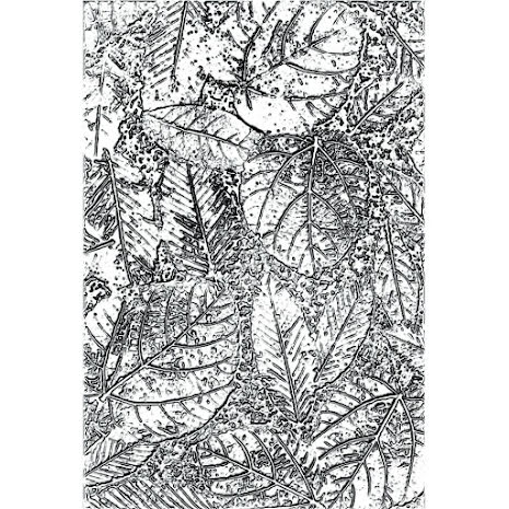Tim Holtz Sizzix 3-D Texture Fades Embossing Folder - Foliage