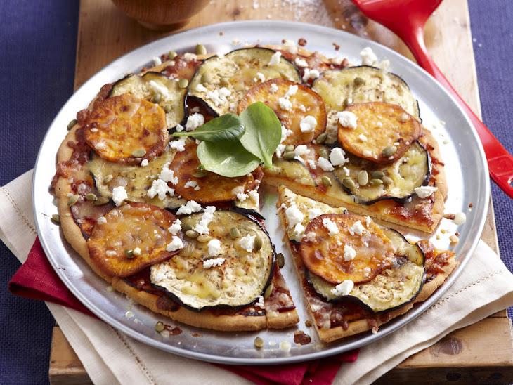 Sweet Potato, Eggplant and Feta Pizza Recipe