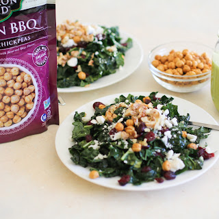 Kale Salad with Roasted Walnuts and Chickpeas and Lemon-Parsley Vinaigrette
