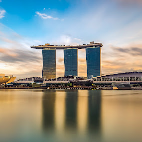 Marina Bay Sands by Martin Yon - Landscapes Travel ( sands, building, bay, mbs, casino, architecture, marina, singapore )