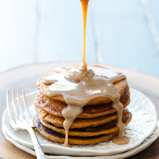 Sweet Potato Pancakes with Cinnamon Cream Syrup